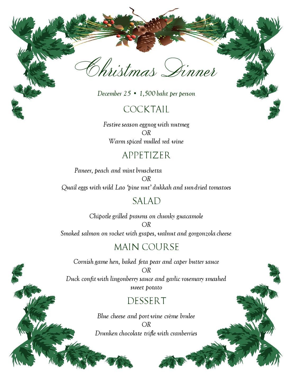Our special Christmas set menu is out! | SevenSpoons